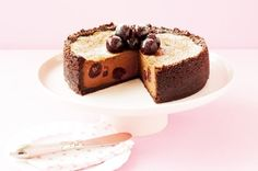Double Choc-cherry Cheesecake Recipe - Taste.com.au