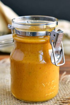 Carolina Mustard BBQ Sauce is a rich, bold, and flavorful addition to your pulled pork, chicken, and so much more. This sauce is sweet and tangy with a touch of spice that you can easily adjust. Easy Bbq Sauce, Homemade Barbecue Sauce, Barbecue Sauce Recipes, Barbeque Sauce, Homemade Sauce, Bbq Sauces, Bbq Sauce For Chicken, Smoked Chicken Wings, Grilled Chicken Wings