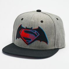 cfd2e9580de33 Men s DC Comics Batman v Superman  Dawn of Justice Snapback Cap Superman