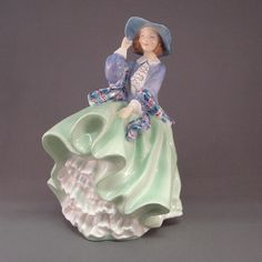 Top O the Hill Green & Blue Royal Doulton Figurine