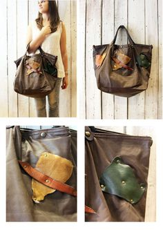 KUM BAG Handmade Italian Leather Tote Handbag\backpack di LaSellerieLimited su Etsy