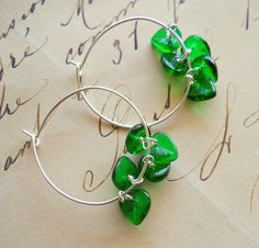 Green Round hoops