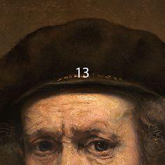 Rembrandt van Rijn, Self-Portrait, 1659. Yellow in the hat band: yellow ochre