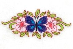 Floral Butterfly Small 2 - 5x7 | What's New | Machine Embroidery Designs | SWAKembroidery.com Starbird Stock Designs