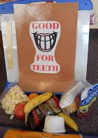 Use felt food. February is Dental Health Month-check out this site for some activities to do with your young children to teach them the importance of dental health. Dental Kids, Dental Art, Dental Teeth, Dental Humor, Dental Hygiene, Local Dentist, Dental Health Month, Health Unit, Health Lessons