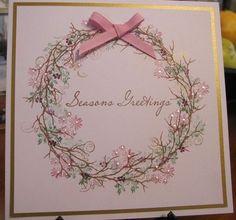 Meer dan 1000 afbeeldingen over Rubber Stamp Tapestry peg . Stamped Christmas Cards, Homemade Christmas Cards, Christmas Cards To Make, Xmas Cards, Homemade Cards, Holiday Cards, Christmas Charts, Christmas Vinyl, Prim Christmas