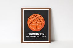Custom Basketball, Basketball Teams, Printable Quotes, Printable Wall Art, Team Word, Coach Appreciation Gifts, Choose Quotes, Home Decor Signs, Wall Art Quotes