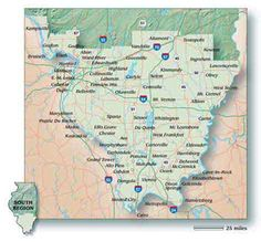 map of southern illinois | Rural Tourism Development: A Case Study
