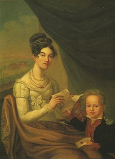 1816 Josephina Fridrix and son P. A. Alexandrov by ? (location unknown to gogm) Wm