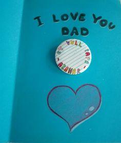 Regalo del Día del Padre, art at classroom,  plástica, badge, chapa