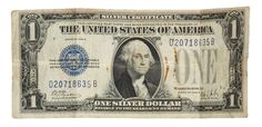 Silver Certificate USA currency Paper Money Large One Dollar blue seal 1923 Woods / White by IroquoisCopper on Etsy Ecuador, Silver Certificate, 11. September, Old Money, Thing 1, One Dollar, S Pic, United States, The Unit