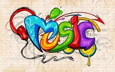 Ambesonne Music Decor Collection, Illustration of Graffiti Style Music Lettering Headphones Hip Hop Rhythm Tempo Hipster Concept, Bedroom Living Room Dorm Wall Hanging Tapestry, 60 X 40 Inches, Multi Graffiti Art, Music Graffiti, Graffiti Images, Graffiti Words, Graffiti Drawing, Graffiti Styles, Graffiti Lettering, Graffiti Bedroom, Graffiti Wallpaper