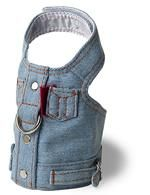 Blue Jean Jacket Denim Vest Harness by Doggles 100