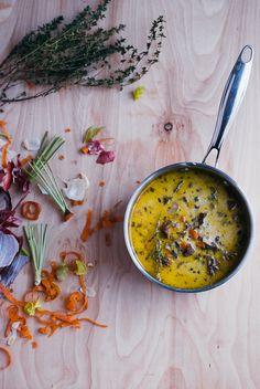 Creamy Wild Rice & Mushroom Soup via Brooklyn Supper #recipe