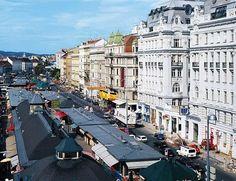Great view over Naschmarkt, Vienna