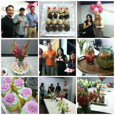 "A ""Baby Celebration"" for Ting Ting planned by Jessica, including gourmet cupcakes from Elizabethan Desserts and foodie-worthy refreshments made by Kevin on our team!"