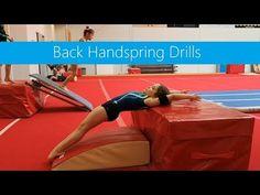 Back Handspring Drills Gymnastics For Beginners, Gymnastics Lessons, Gymnastics Moves, Gymnastics Tricks, Tumbling Gymnastics, Gymnastics Flexibility, Gymnastics Coaching, Amazing Gymnastics, Flexibility Workout