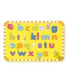 Little ones will love learning their letters with this classic alphabet puzzle. It helps kids master letter identification while still being engaging and entertaining.