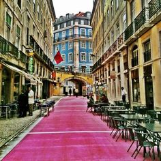 """Lisbon """"pink street"""" is the epicentre of the bohemian night and  home to a variety of unique and unusual places where you can watch a burlesque show, drink a cocktail , eat some Portuguese tapas between drinks or watch a live concert."""