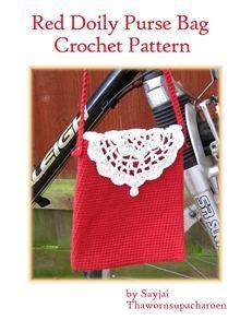 Red Doily Purse Bag Crochet Pattern