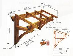 Achat Structure BORGIA Auvent 1 pan Jardipolys - Abri de Terrasse Auvent Marquise
