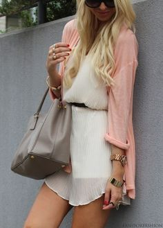 cardigan over a casual dress | www.shopyandi.com // shopyandi.tumblr.com // #shopyandi