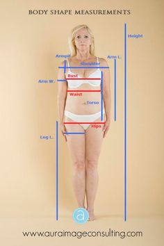 Learn how to accurately get your body shape measurements and find out more about your #bodyshape -  Click the image or go to http://auraimageconsulting.com/2014/06/body-shape-measurements/ #ImageConsultant #StylistToronto
