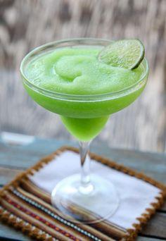 Lime Sherbet Margaritas #justapinchrecipes