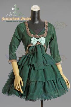Ero Lolita V Collar Frill Trimmings Extra Short Dress