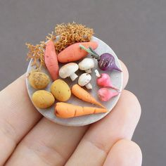 Miniature Food Sculptures by Shay Aaron