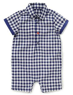 Pure Cotton Gingham Checked Onesie Clothing £12