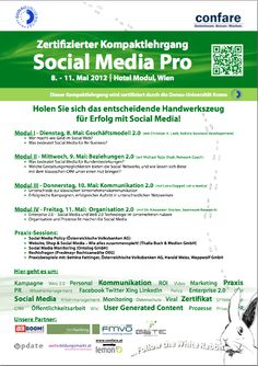 Social Media Pro - zertifizierter Lehrgang der Donau Universität Krems by @Confare @Michael Ghezzo