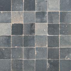 """ANN SACKS Idris 2"""" x 2"""" terra cotta mosaic in pearl grey"""