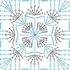 Ideas Crochet Heart Granny Square Pattern For 2019 Grannies Crochet, Crochet Motifs, Granny Square Crochet Pattern, Crochet Stitches Patterns, Crochet Diagram, Crochet Chart, Crochet Squares, Stitch Patterns, Diy Crochet