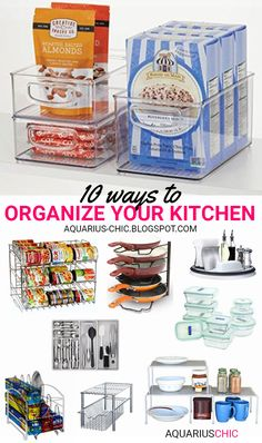 AQUARIUS-CHIC: 10 Ways To Organize Your Kitchen