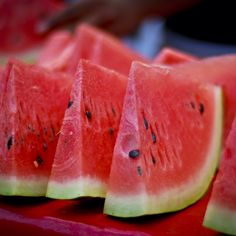 Today is #nationalwatermelonday . Not only is watermelon a delicious summer treat, but it contains around 90% water making it a great way to stay hydrated during the summer heat!