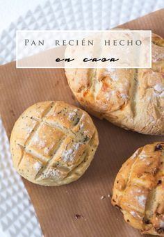 receta pan casero Cooking Bread, Cooking Recipes, Mexican Food Recipes, Sweet Recipes, Pan Dulce, Pan Bread, Artisan Bread, Love Food, Food Porn
