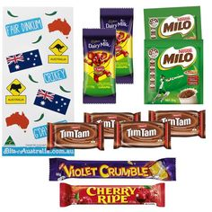 Welcome a visitor to Australia with some of our iconic foods or send our Aussie treat bag in a box overseas to friends and family missing home. Aussie Food, Australian Food, Australia Day, Violet Crumble, Little Passports, Recipe Icon, Tim Tam, Welcome Bags