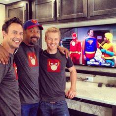 Rick Cosnett, Tom Cavanagh and Jesse L. Martin #TheFlash
