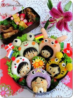 My 100th Bento - Happy Children Bento by Cooking-Gallery, via Flickr