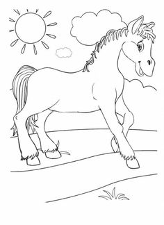 Free Coloring Pages, Coloring Books, Kindergarten Coloring Pages, Farm Animals, Kids Rugs, Drawings, Creative, Illustration, Pictures