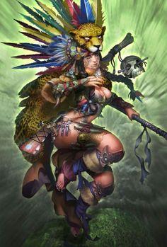 nsfw anime and fantasy girl - Fantasy Character Design, Character Concept, Character Art, Concept Art, Fantasy Girl, Dark Fantasy Art, Aztec Warrior, Inka, Aztec Art