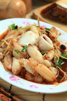 ginger crab in hot bean sauce | Taiwanese Food