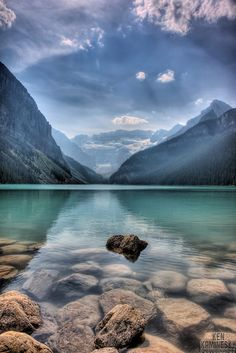 The tranquil waters of Lake Louise in Banff National Park, Alberta, Canada © Ken Kaminesky