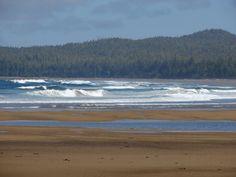 Waves hitting the beach at Burnett Bay. June 9, 2012