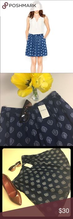🆕FLASH SALELucky Brand-NWT blue patterned skirt🆕 🆕Lucky Brand- New with tags- Blue Patterned skirt✨ perfect spring/summer addition to every ladies wardrobe😍 the blue in the skirt is darker than the model picture, it's more of a dark blue. Perfect to dress up or down- add heels and your favorite blazer for work, or add your favorite top and clutch for ladies night🍀! Lucky Brand Skirts
