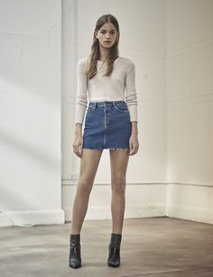 Your new go-to outfit featuring the Ace Denim Skirt