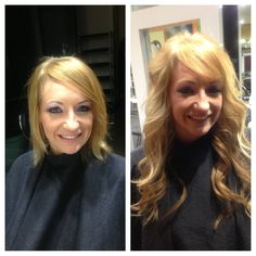 Beautiful before and after Hairdreams hair extensions - Malisa