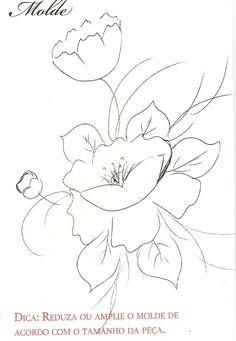 Risco, flor, flores, artesanato, pintura de tecido, modelo.