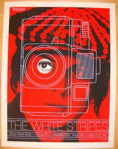 The White Stripes w/ Cold War Kids - silkscreen concert poster (click image for more detail) Artist: Rob Jones Venue: Paramount Theatre Location: Seattle, WA Concert Date: 9/26/2007 Edition: Signed an
